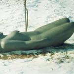 Обнаженная, вид 4 (базальт, 240x110x87 см, 1996 г.)