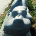Обнажённая, вид с другой стороны (базальт, 240x110x87 см, 1996 г.)