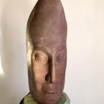 Голова, речной песчаник (60x27x23cm)