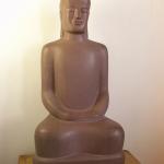 Будда (речной песчаник, 85x40x33 см, 1992 г.)